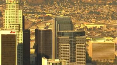 Los Angeles city Skyscraper buildings — Stock Video