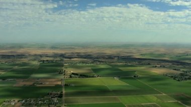 Idaho farm irrigation food land — Stock Video
