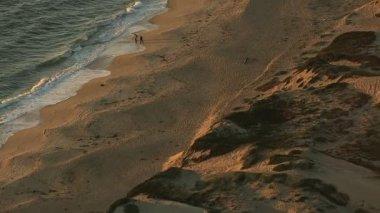 California Pacific ocean coastline beach — Stock Video