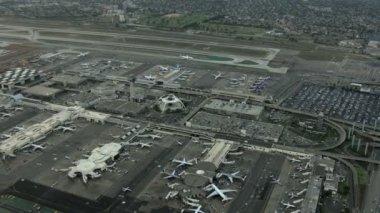California LAX Los Angeles airport — Stock Video