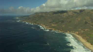 California Monterey Bay ocean coastline — Stock Video