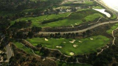 Aerial Golf Course sport Monterey California USA — Stock Video