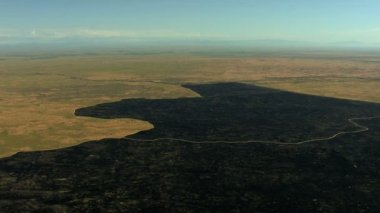 Aerials Idaho USA landscape burned farming land — Stock Video