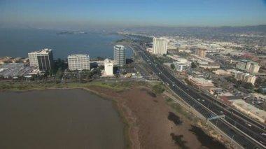 San Francisco Bay Interstate 80 Intersection — ストックビデオ