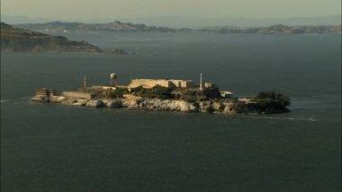 California USA Alcatraz San Francisco coast prison Bay — Stock Video