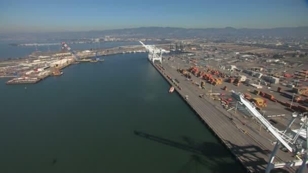 Container Port Oakland San Francisco — Vidéo