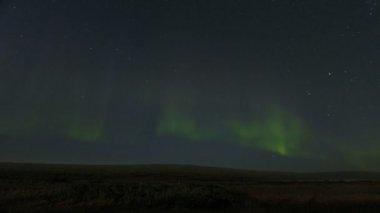 Aurora Borealis Iceland sky — Stock Video