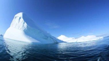 Icefjord Iceberg at Disko Bay — Stock Video