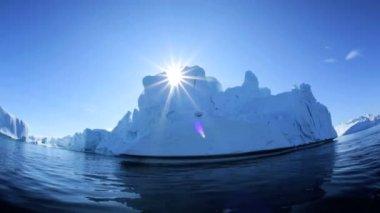 Iceberg and Environment at Disko Bay — Stock Video