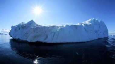 Ilulissat disko bay kıyı eriyen buzdağları — Stok video