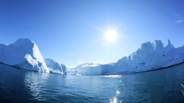 Greenland Disko Bay Glacial Ice — Stock Video