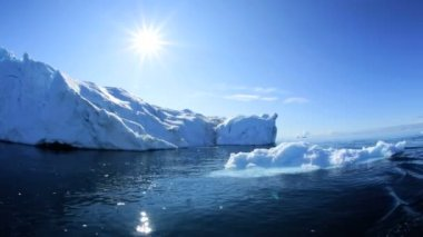 World Heritage Site Greenland Glacial Ice — Stock Video