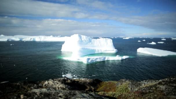 Icecap fusión de Disko bay Groenlandia — Vídeo de stock