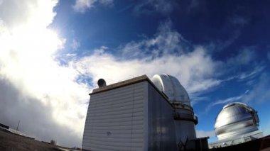 Space observatory byggnader vetenskap teknik — Stockvideo