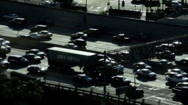 Rush hour commuter traffic vehicle congestion — Stock Video