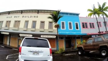 Hilo downtown after tropical Hurricane — Stock Video