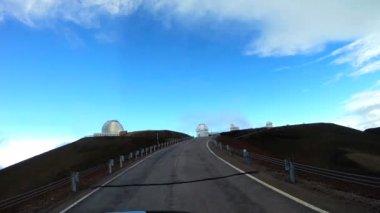 Astronomiska observatorium anläggning satellit teleskop — Stockvideo