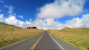 Drive Mt Mauna Kea volcanic Mountain road — Stock Video