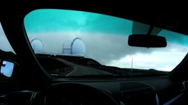 Driving near Space Observatory Buildings — Stock Video