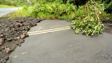 Damage aftermath flash flooding Hilo area — Stock Video
