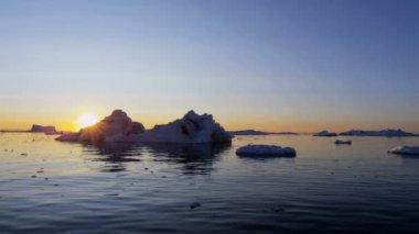Ilulissat Icefjord Disko Bay Greenland — Stock Video