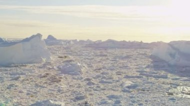 Meltwater Glaciers Frozen Mass Disko Bay — Stock Video