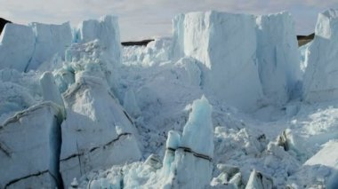 Greenland glacier arctic ice floes — Stock Video