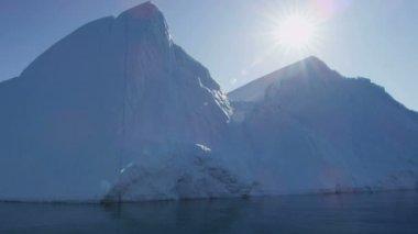 Ilulissat Icefjord Disko záliv Grónsko — Stock video