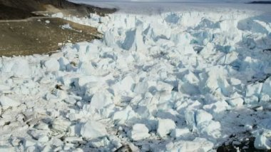Eqi Glacier Greenland Melting Icecap — Stock Video