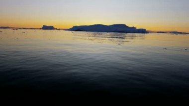 World Heritage Site Disko Bay Greenland — Stock Video