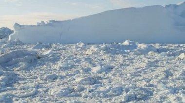 Arctic mass Disko Bay Greenland — Stock Video