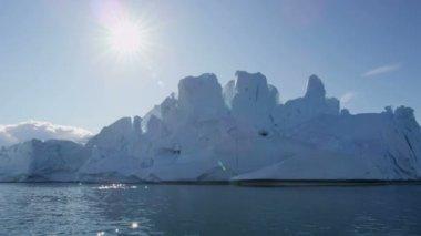 Icebergs Disko Bay Greenland Denmark — Stock Video