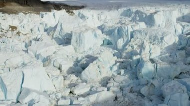 Frozen Ice Mass Arctic Glacier — Video Stock