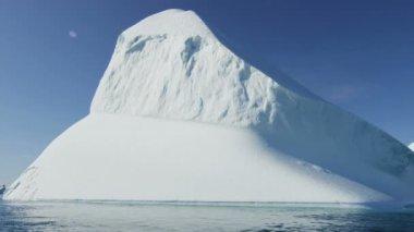 Icefjord landscape Disko Bay — Stock Video