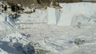 Eqi Glacier Greenland Melting Icecap — Stock Video