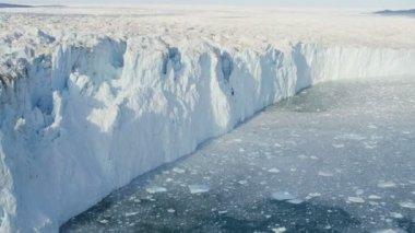 Greenland Glacier Landscape Frozen Mass — Stock Video