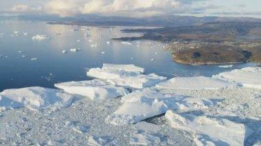 Greenland Ilulissat Icefjord Disko Bay — Stock Video