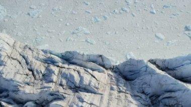 Eqi Glacier Greenland Melting Polar Icecap — Stock Video