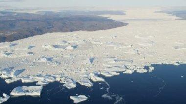 Glaciers Frozen Mass Ilulissat Greenland — Stock Video