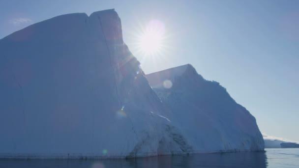 Ilulissat Icefjord Disko Bay Greenland — Vídeo de stock