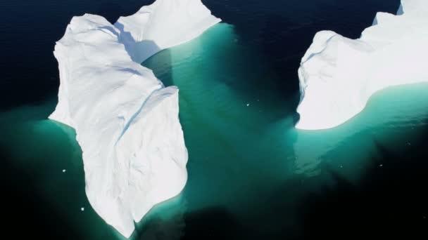 Frozen Mass Disko Bay Greenland — Vídeo de stock