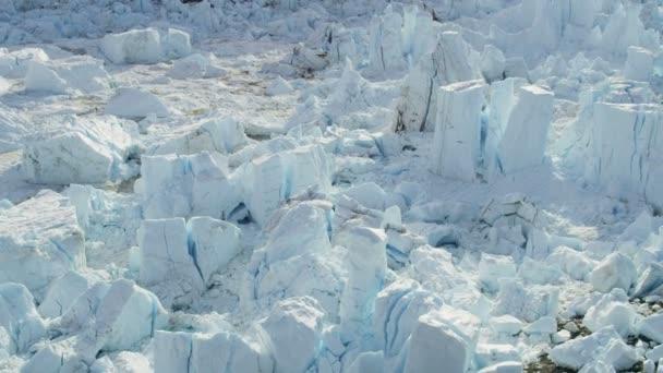 Hielo Eqi deshielo glaciar helado Groenlandia — Vídeo de stock