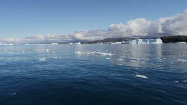 Icebergs Disko Bay Groenlandia — Vídeo de stock