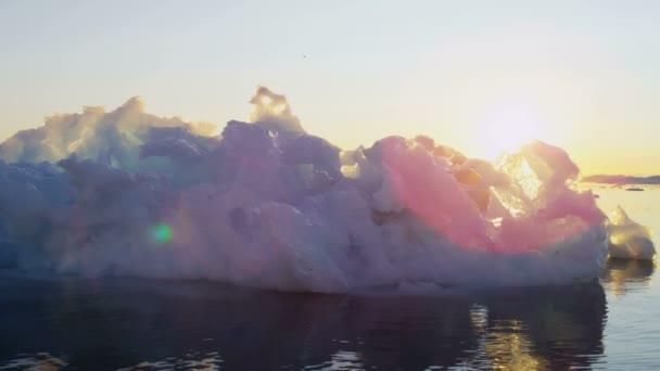 Icefjord floating glacial Disko Bay — Vídeo de stock