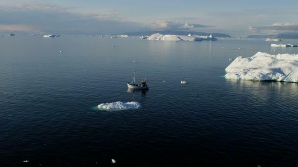 Drifting Ice Floes Greenland — Vídeo de stock
