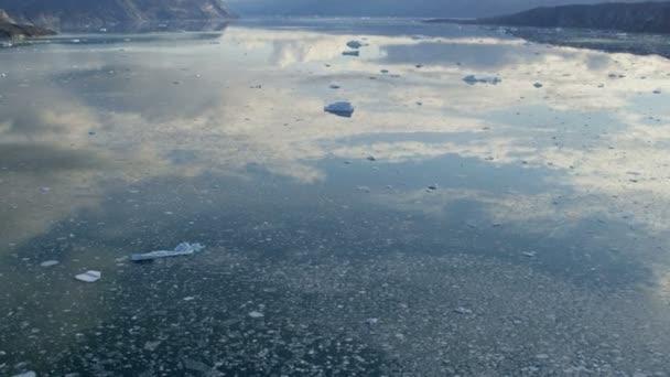 Glaciares congelados masa Disko Bay Groenlandia — Vídeo de stock