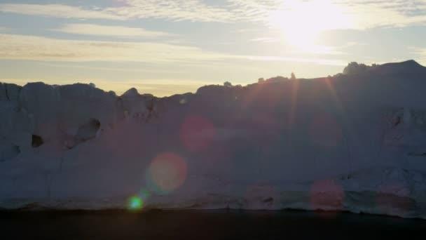 Meltwater Arctic Glaciers Frozen Mass Greenland — Vídeo de stock
