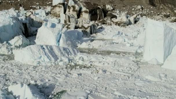 Icecap de fusión glaciar Eqi Groenlandia — Vídeo de stock