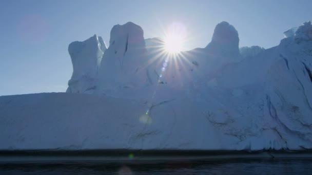 Icefjord iceberg Disko Bay — Vídeo de stock