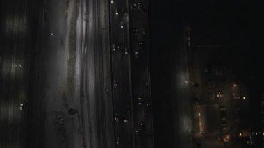 Illuminated view City buildings San Francisco — Vídeo de Stock